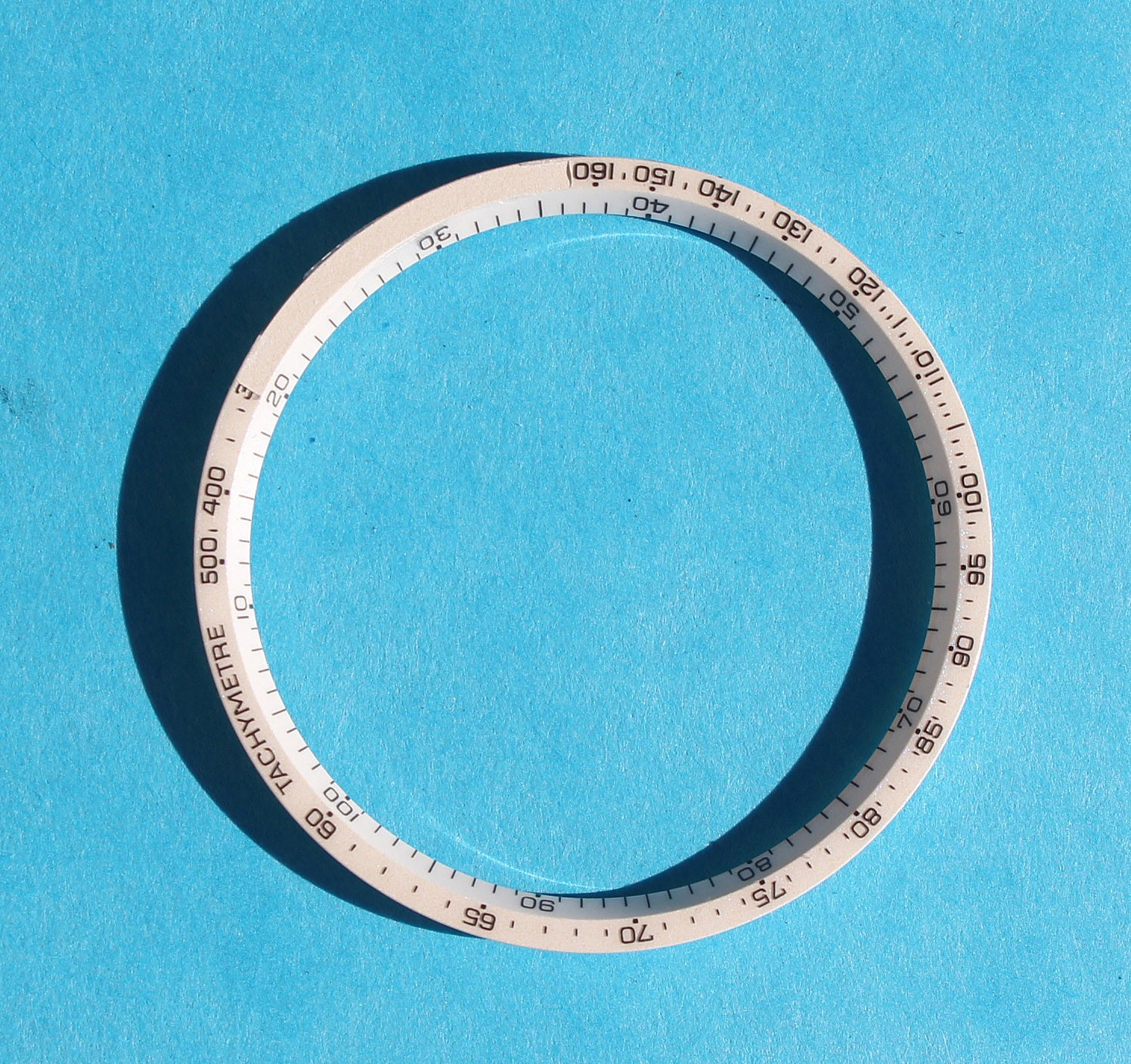 VINTAGE BEZEL DARK BLUE BREITLING INNER BEZEL WHITE NUMBERS Ø30mm