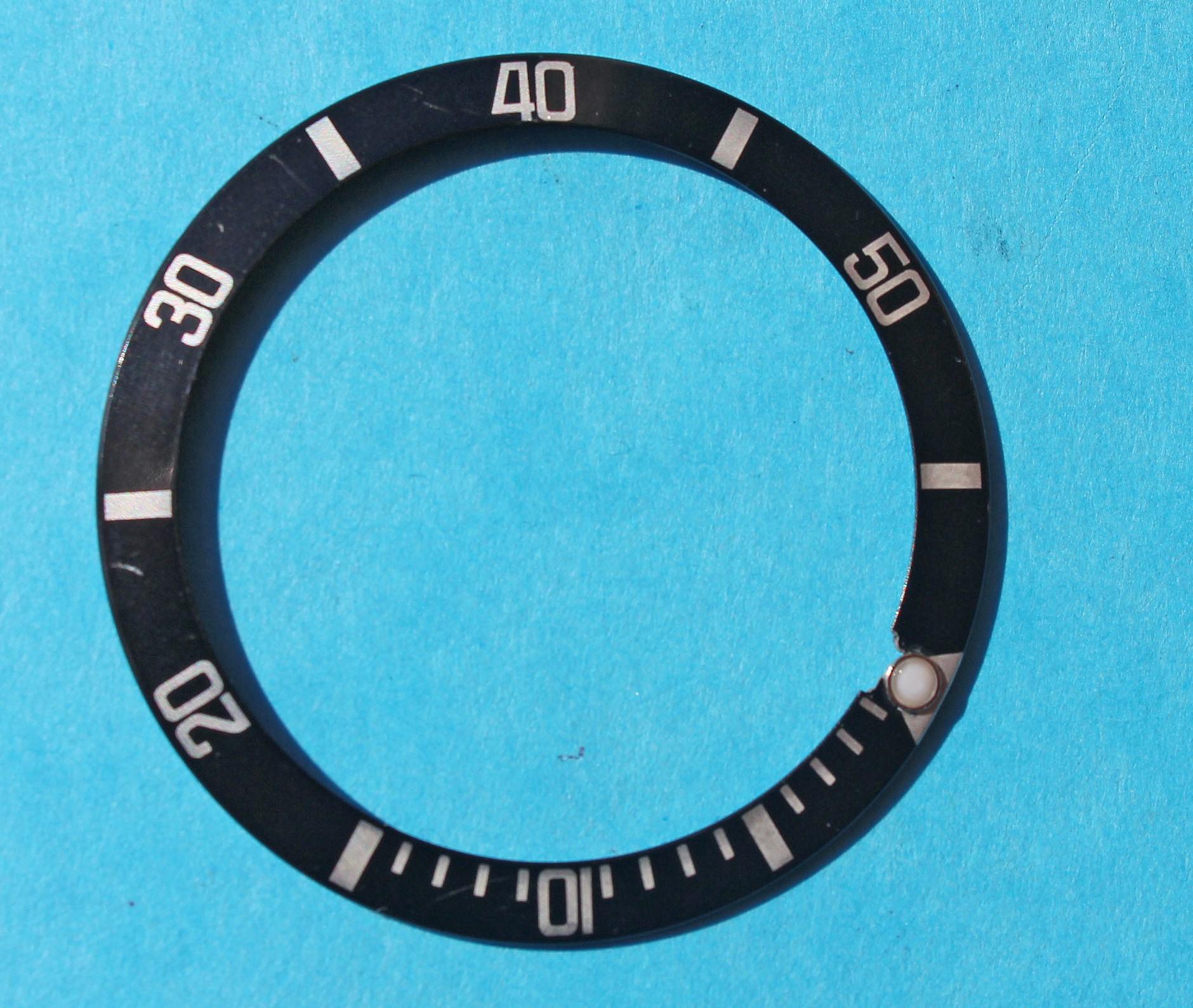 RARE VINTAGE ROLEX INSERT BLEU FADED MONTRES 16800, 16800, 16610 SUBMARINER DATE & PERLE TRITIUM
