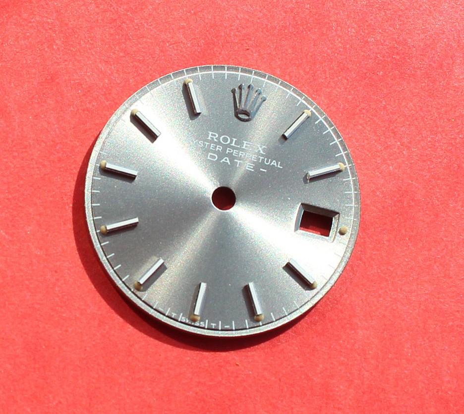 AUTHENTIQUE ROLEX CADRAN ARGENT + DISQUE DATE MONTRES LADY OYSTER PERPETUAL DATE 6917, 69178 Ø20mm
