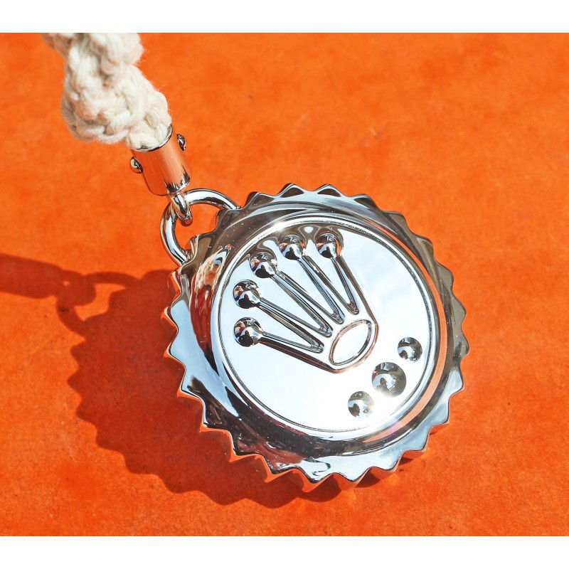 ♛ Collectible Rolex Triplock Submariner crown stainless steel key ring, keychain, holder baselworld 2011, collectables goodies ♛