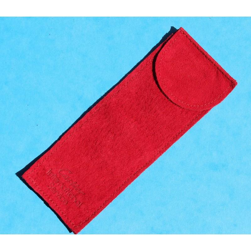 Original CARTIER Watches jewellers Suede red velvet pouch traveler's