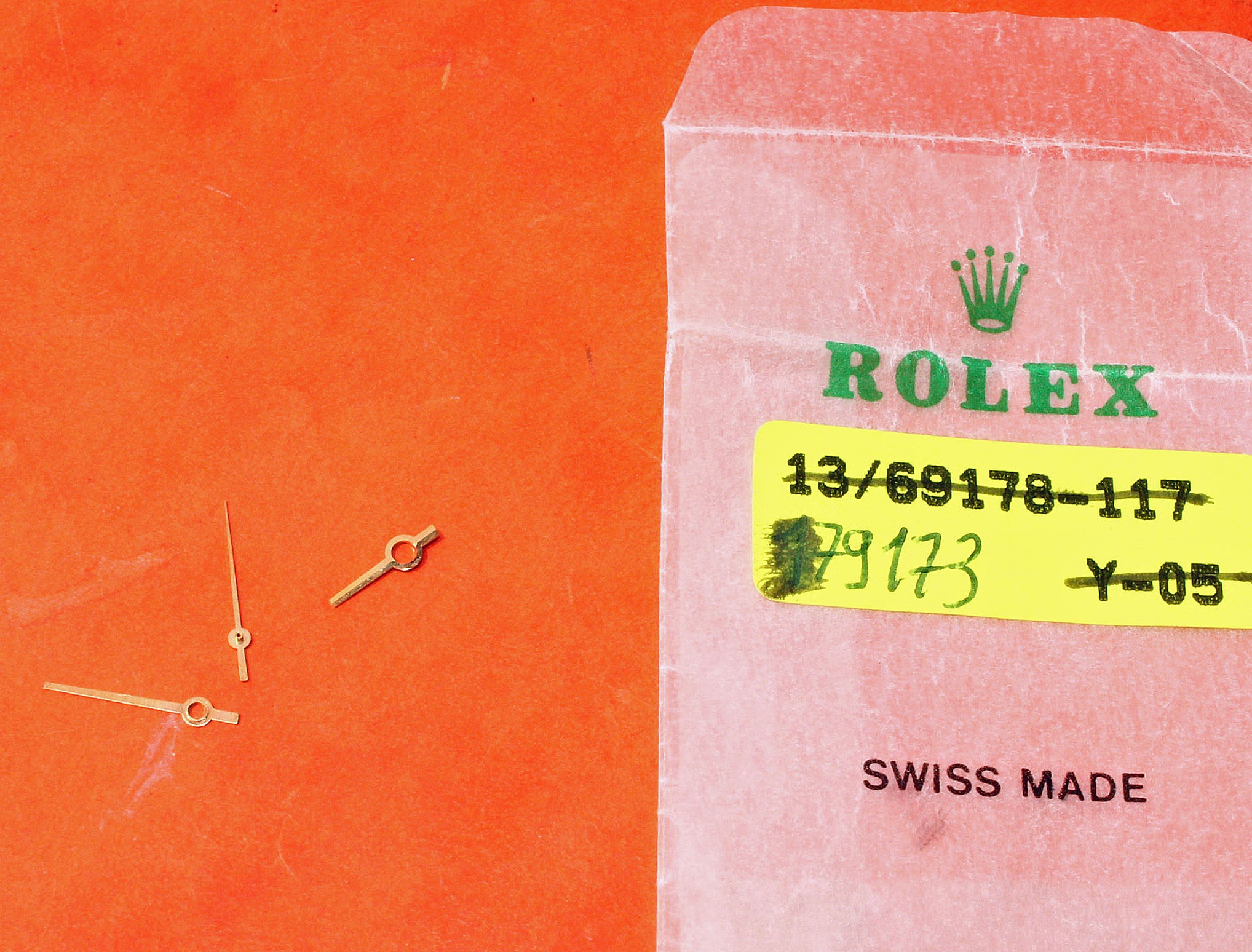 ORIGINAL ROLEX WATCH HANDS LADIES DATEJUST ROLEX 2030-2035 SILVER