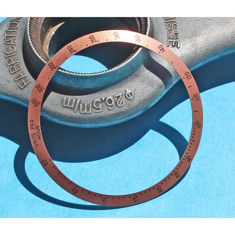 Tudor Chronograph Date 79260 79280 Tiger disque insert gradué couleur pourpre prune