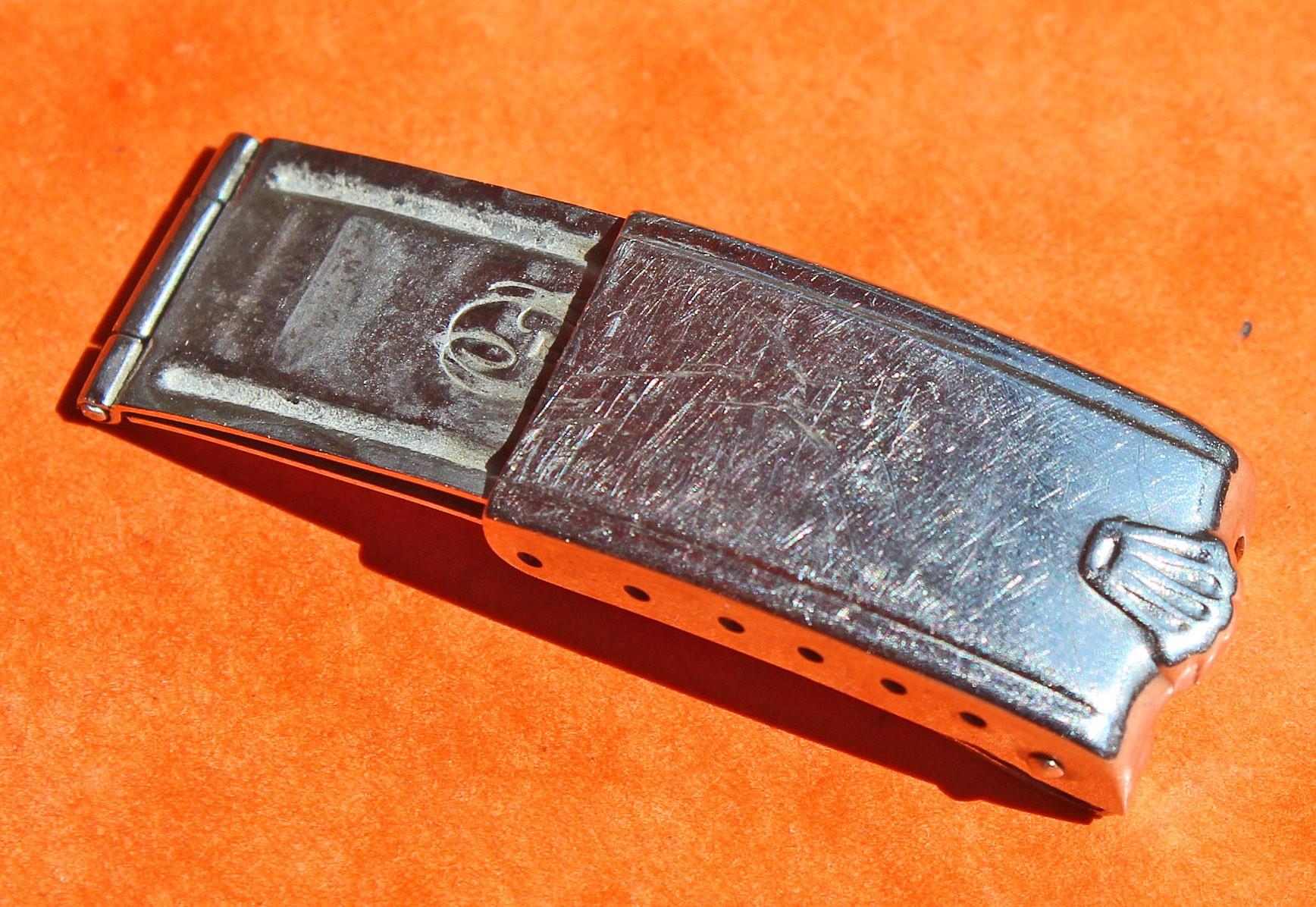 Vintage 60's Rolex Daytona, Precision, Oyster perpetual, Big Crown Buckle rivits 7205, 6635 Bracelet 19mm Watch folded Clasp