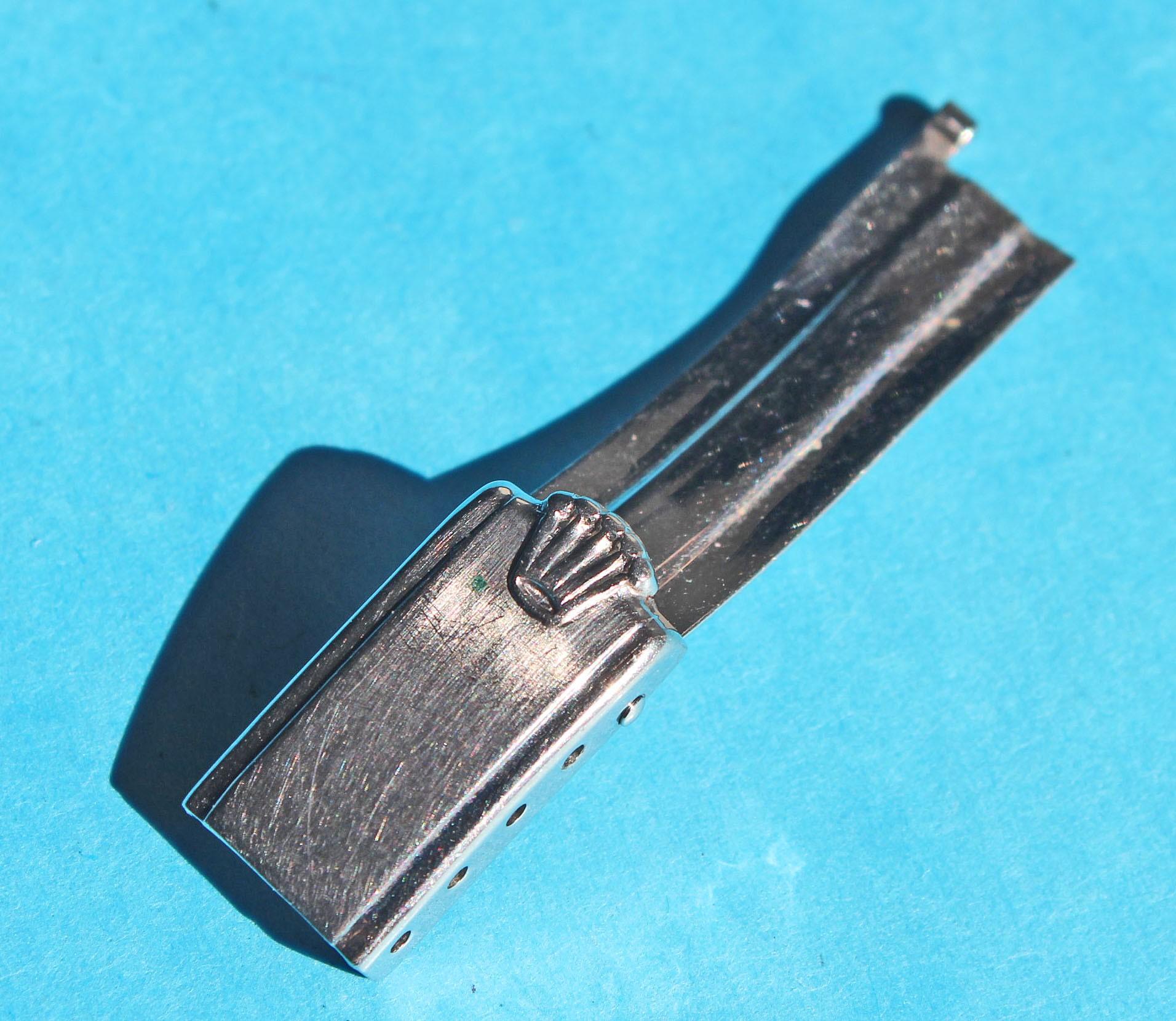 """ROLEX RARE VINTAGE 1966 FERMOIR DÉPLOYANT 7204 """"BIG LOGO"""" MONTRES BRACELETS 13mm RIVETS"""
