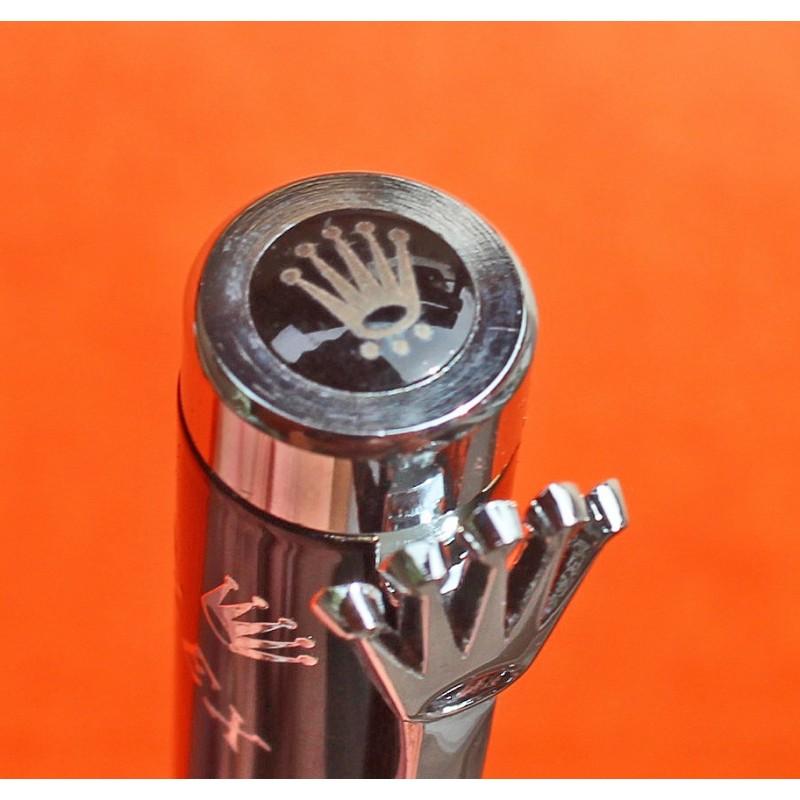 ☆ROLEX 80's COLLECTOR BALLPOINT MANUFACTURE ROLEX BIENNE PEN Engraved Elegant Writing Instrument ★