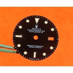 Rolex Vintage Black 80's 16550, 16570 Oyster Perpetual Date ''Explorer II'' Rail watch tritium Dial cal 3085
