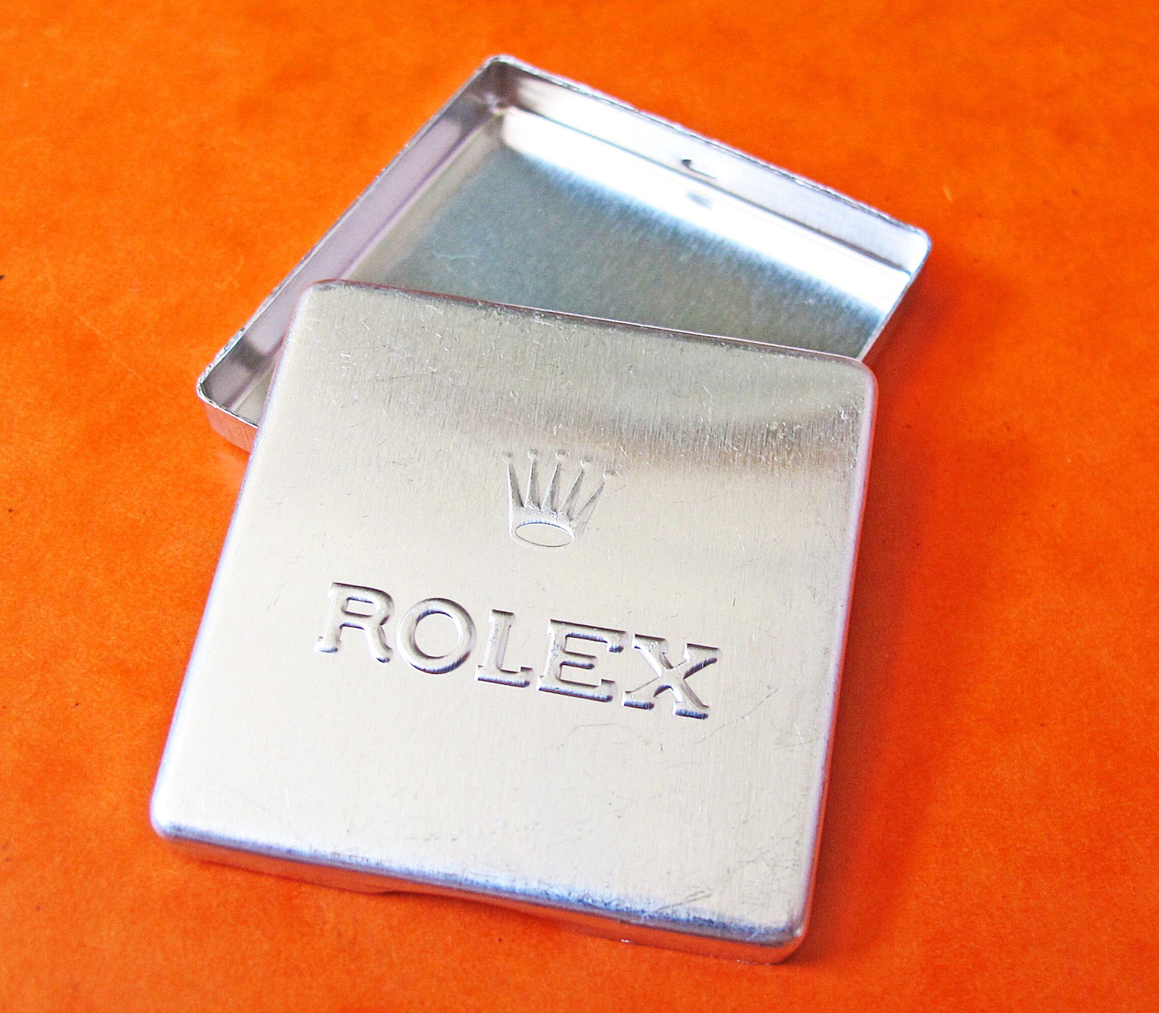VINTAGE ROLEX TINS PARTS TOOLS DIAL HANDS SCREW...
