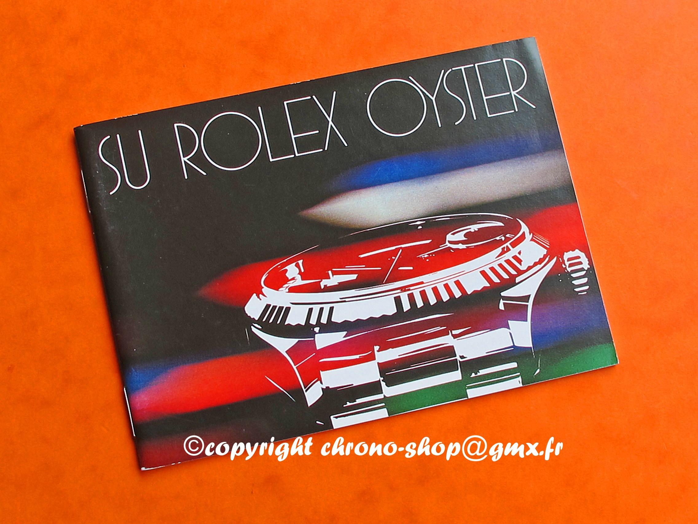 1982 SU ROLEX OYSTER bookley