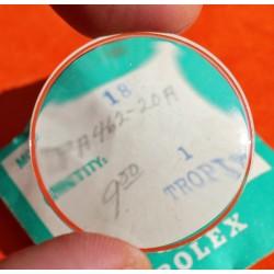 ROLEX VINTAGE VERRE ACRYLIQUE TROPIC SUPERDOME 19 MONTRES SUBMARINER 5512, 5513, 5514, 5517, UN COLLECTOR