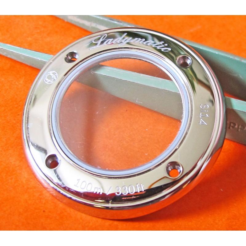ORIGINAL CASEBACK OMEGA LADYMATIC SAPHIR GLASS