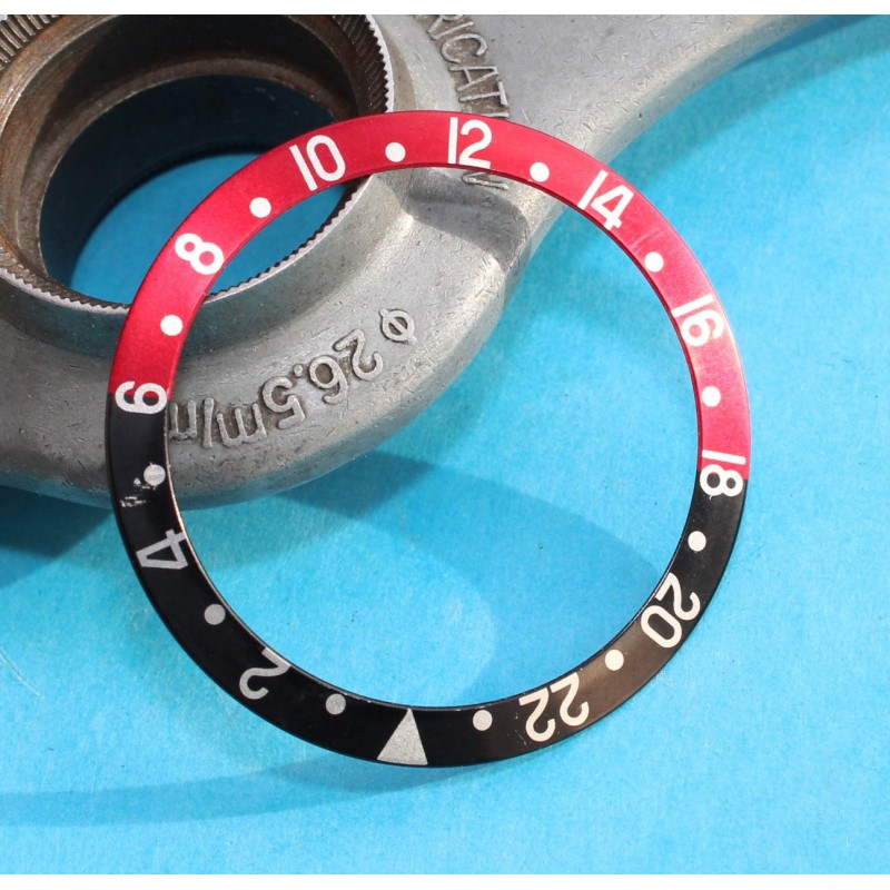 Pristine Rolex Gmt Master 16710, 16700, 16760 COKE black and red Bezel insert Authentic Vintage FAT LADY