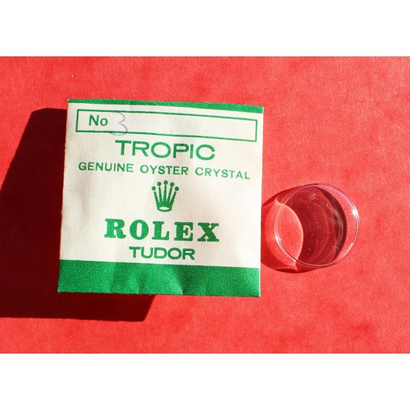 ROLEX VERRE PLEXIGLAS TROPIC 12 MONTRES DAMES 6503-6526, 6615-6623, 6706-6724, 6800-6807, 7936