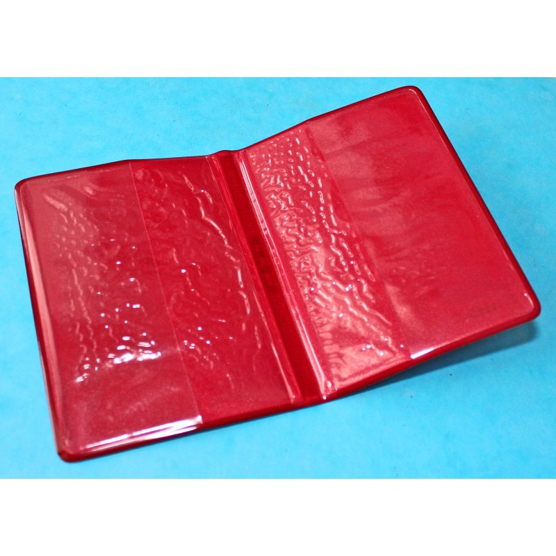 1970 Vintage Tudor Red purple Leather Business Card Wallet ref 106 00 41