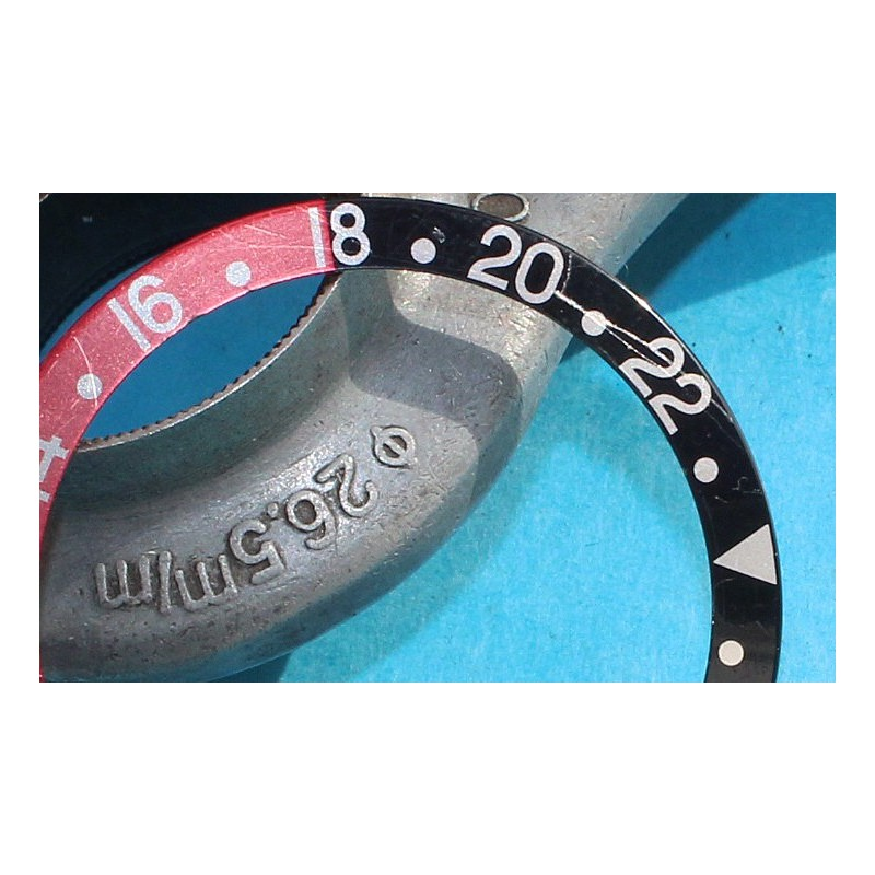 ROLEX VINTAGE & INSERT FADED GRADUE DE LUNETTE MONTRES GMT MASTER II 16700, 16710, 16760 FAT LADY COKE