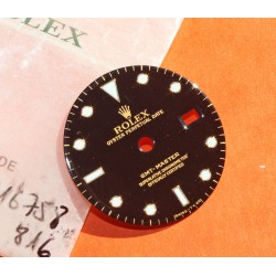 Rolex Genuine GMT MASTER BLACK REFLECTS NIPPLE DIAL WATCH VINTAGE 16758, 16753 tutone cal 3075