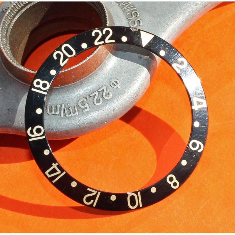 ROLEX VINTAGE INSERT GRADUE MONTRES GMT MASTER 1675/3, 16753, 1675/8, 16758, 1675 or & acier