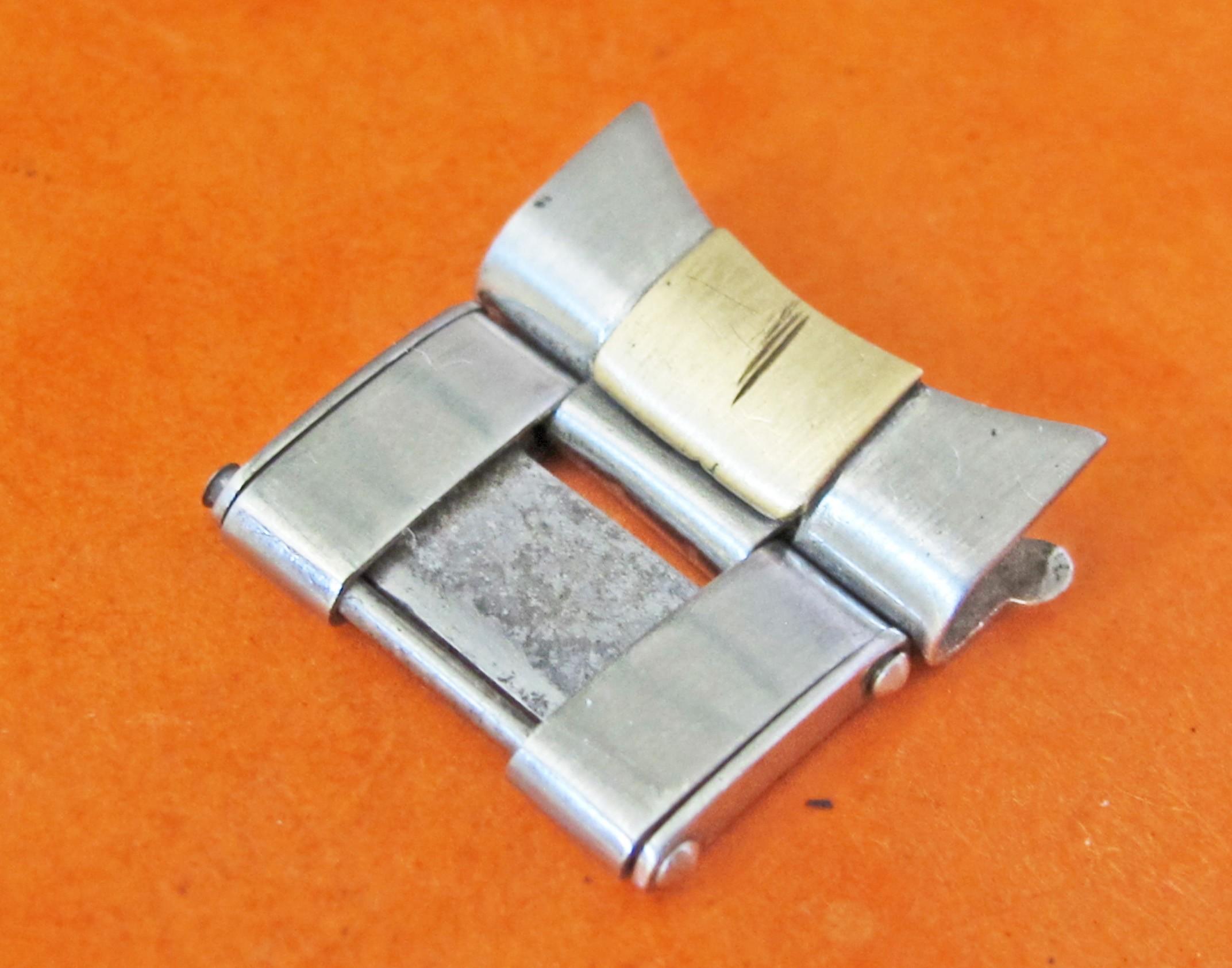 Vintage Genuine Rolex Rivet Band Bracelet 18mm bicolor