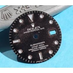 Rolex Vintage Glossy Spider Web dial 16800, 168000, 16610 Submariner date Black Index Tritium creamy color cal 3035
