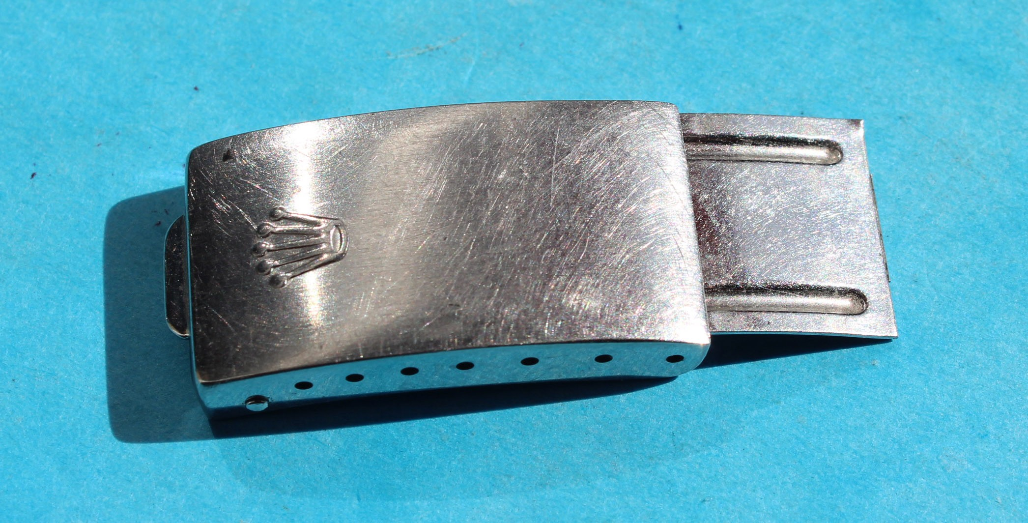 ROLEX USED FOR RESTORE, REPAIR VINTAGE WATCHES FOLDED CLASP DEPLOYANT Ref 78350 fits on 19mm BRACELETS OYSTER