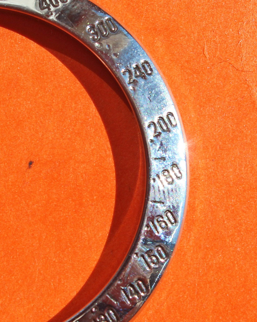 AUTHENTIQUE ROLEX LUNETTE GRAVÉE ACIER TACHYMETRE COSMOGRAPH DAYTONA 16520, 116520