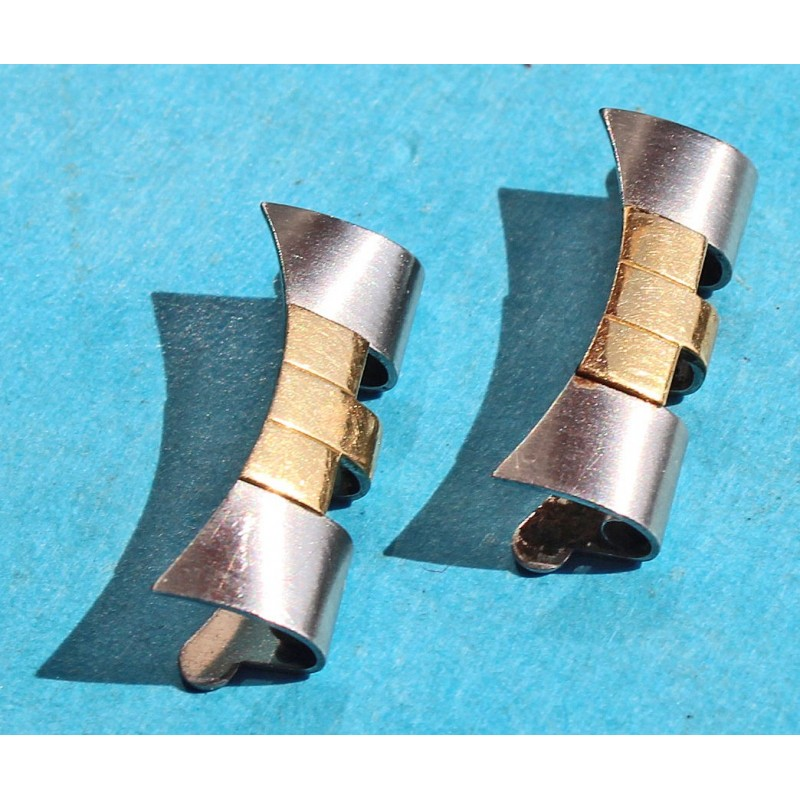 ROLEX GENUINE TUTONE 18K GOLD STEEL WATCH BRACELET END PIECE 455B 20mm X 2