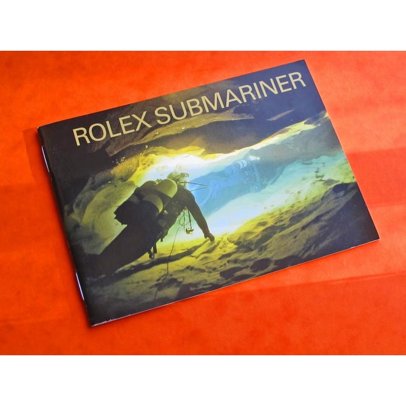 LIVRET ROLEX SUBMARINER 14060M-16610-16600