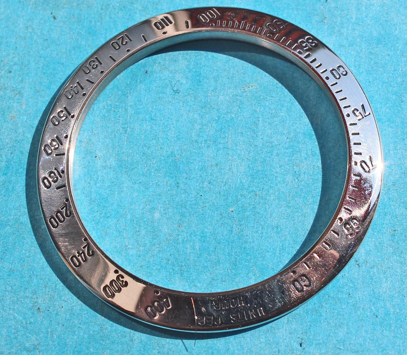 ROLEX ORIGINALE LUNETTE GRAVÉE ACIER TACHYMETRE MONTRES COSMOGRAPH DAYTONA 16520, 116520