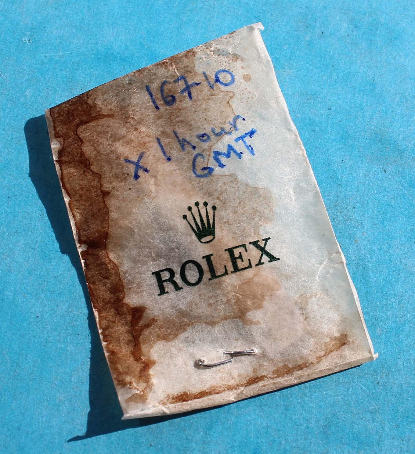 ROLEX NOS ORIGINAL OEM 1 x LUMINOVA HOURS HAND FOR GMT MASTER II WATCHES 16710 AUTO CAL 3175