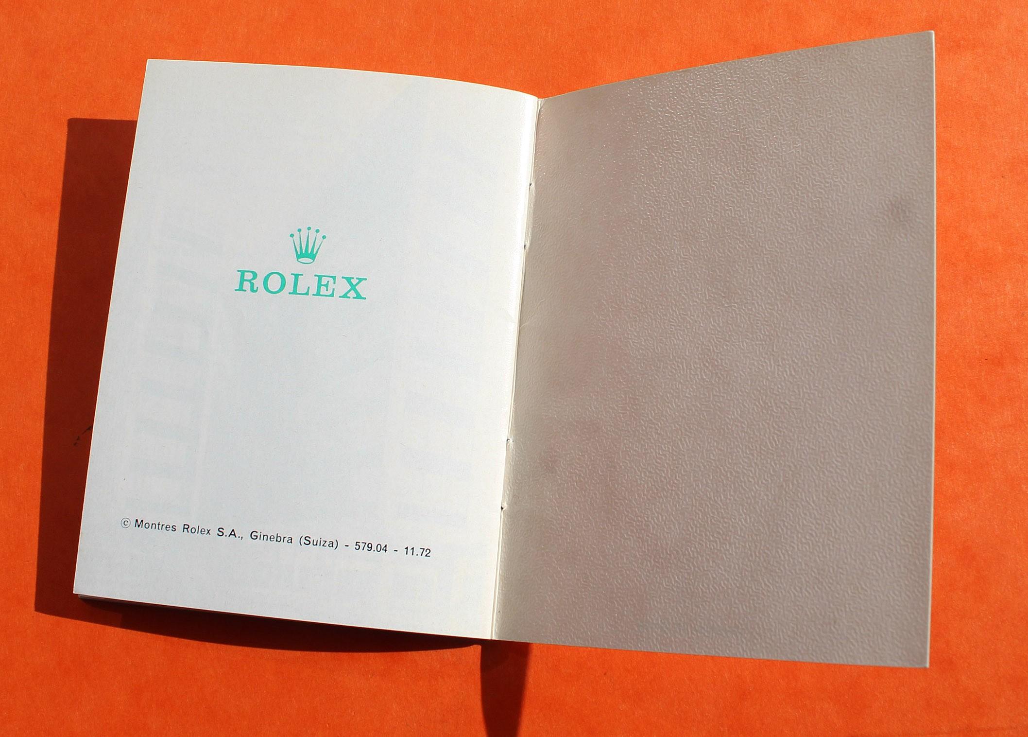 Rolex vintage SU ROLEX 1973 Authentic Submariner watches Booklet 1680 red, Sea-Dweller 1665, DRSD, 5512, 5513 Ref 579.04 -11.72