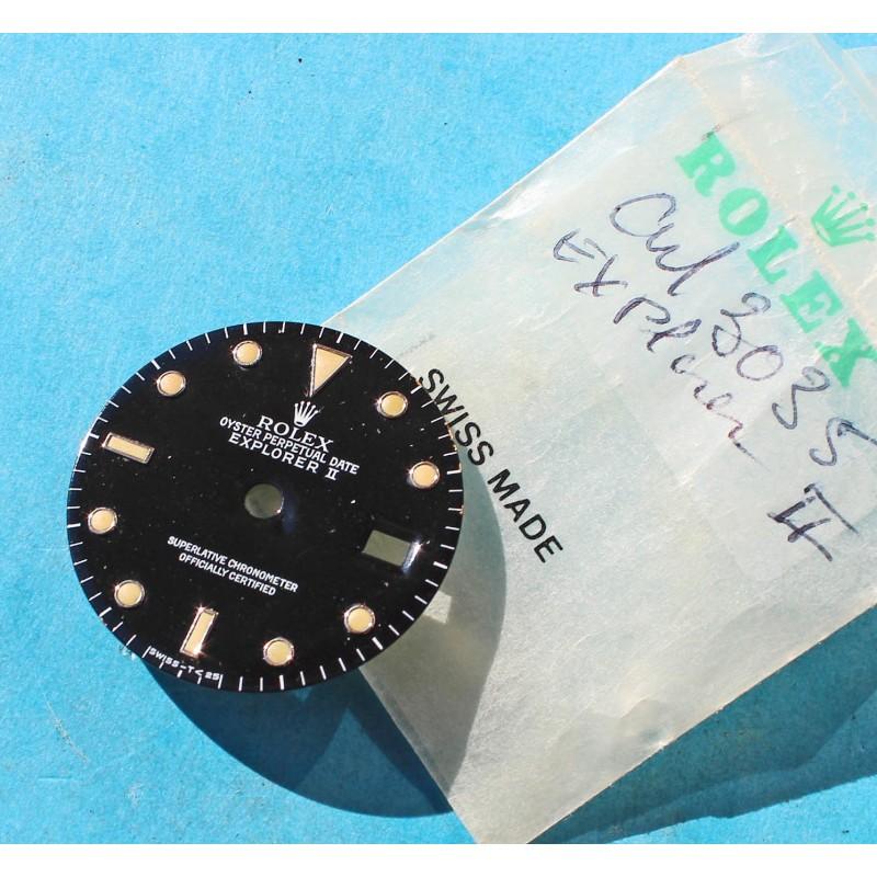 Rolex Vintage Black 80's 16550, 16570 Oyster Perpetual Date Explorer II watch tritium Dial cal 3085