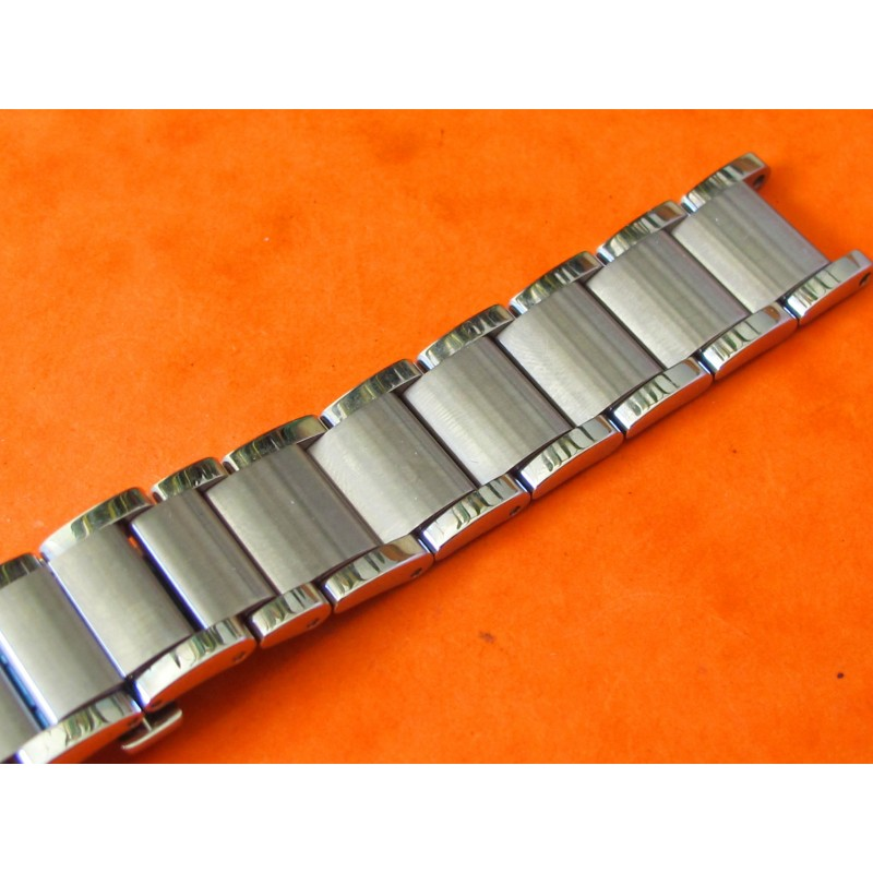 19mm BRACELET HEAVY BRUSHED STAINLESS STEEL WATCH BAND STRAP