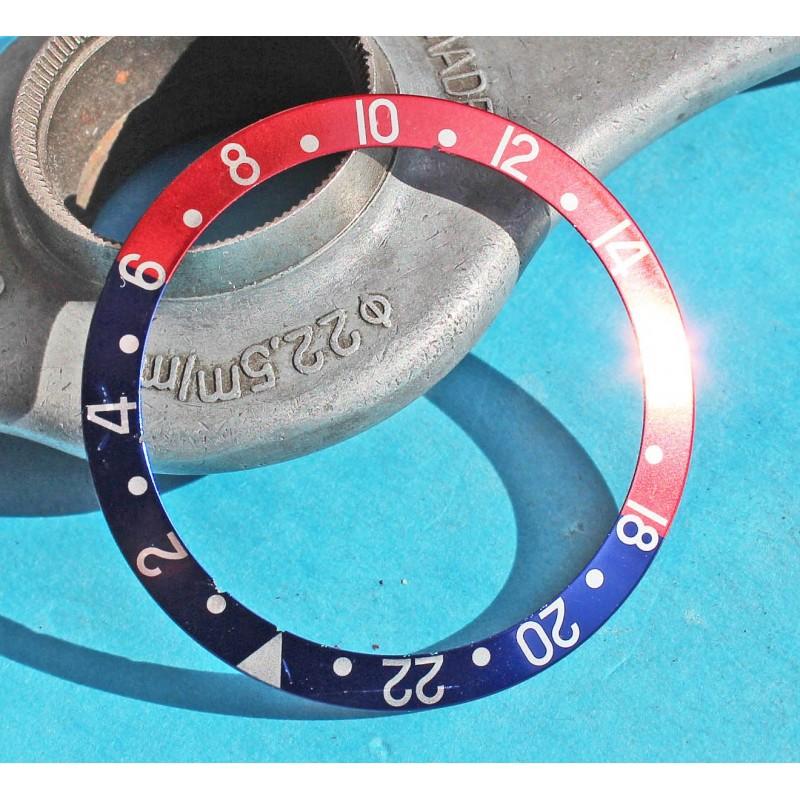 ROLEX 90's FADED ROSE & BLEU INSERT GRADUE 24H LUNETTE MONTRES GMT MASTER 16700, 16710, 16760 COULEUR PEPSI