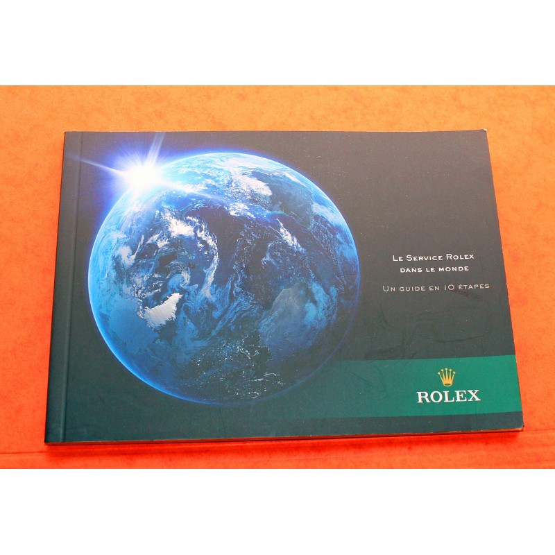 BRAND NEW ROLEX MODERN SERVICE FACTORY 10 STEPS BOOKLET SUBMARINER, GMT, DAYTONA, EXPLORER WATCHES