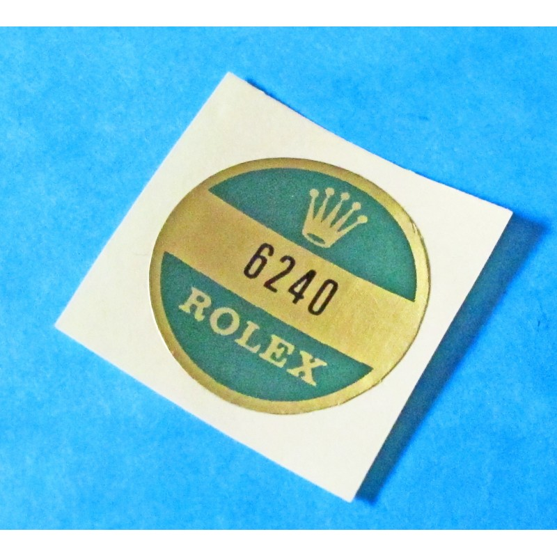 ROLEX CASE BACK STICKER DAYTONA 6240 PAUL NEWMAN for Rolex VINTAGE GOODIES