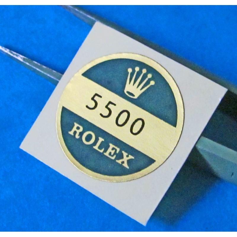 ROLEX 5500 CASE BACK STICKER EXPLORER PRECISION AIRKING Rolex VINTAGE GOODIES
