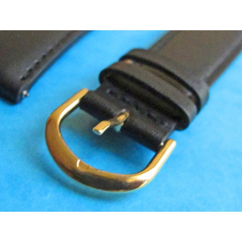 GENUINE BLACK LEATHER BRACELET STRAP 20mm