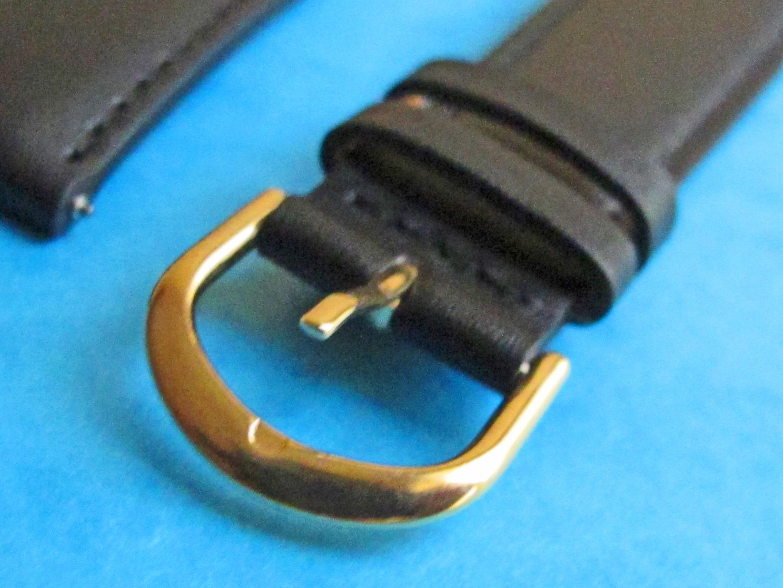 BRACELET CUIR NOIR BOUCLE 20mm