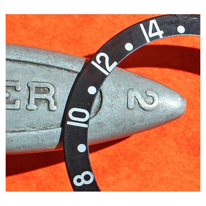 ROLEX 90's ALL BLACK NOIR INSERT GRADUE 24H LUNETTE MONTRES GMT MASTER 16700, 16710, 16760