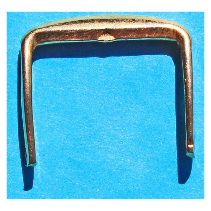 BOUCLE ARDILLON 18/16mm PLAQUE OR JAUNE POUR MONTRE BRACELET CUIR
