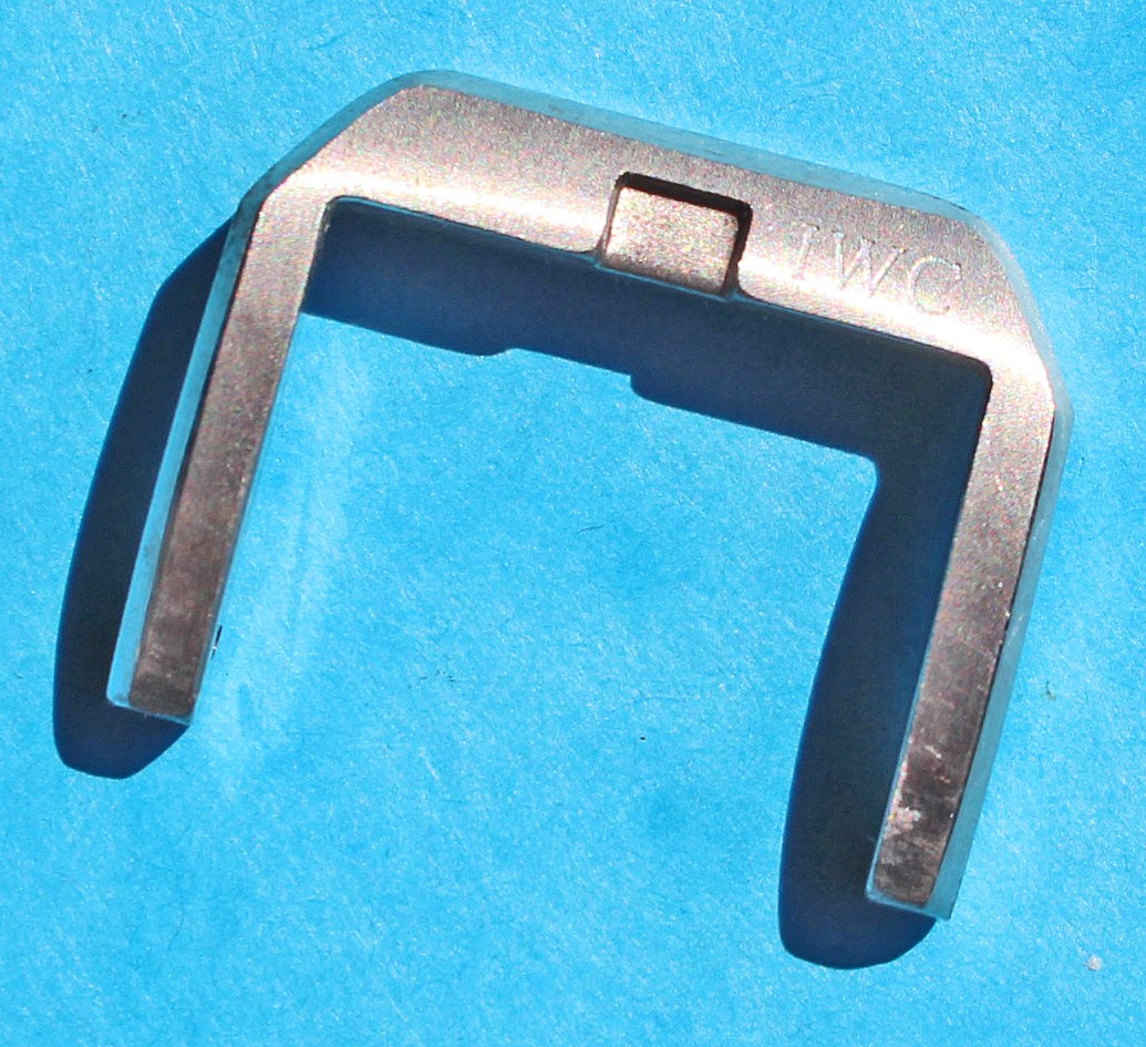 Authentic IWC SSteel Brushed 23mm TANG & BUCKLE pin Clasp spare watch Mark XV, Mark XVI OEM