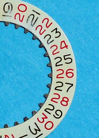 ★VINTAGE & RARE ORIGINAL ROLEX DISQUE DATEUR ROULETTE ROUGE & NOIR MONTRE GMT MASTER 6542 BAKELITE CAL 1036★