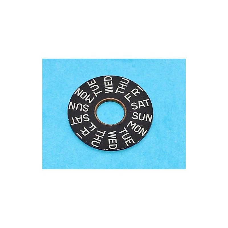 ETA Rare Silver Date Disc Indicator Black arabic numbers Ø23mm