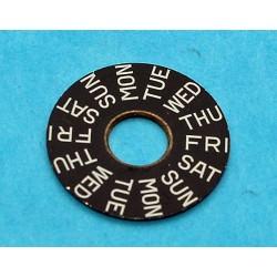 Disque Dateur Argenté, disque de quantième 23mm ETA Calibre Montres Chiffres arabes