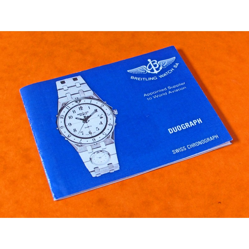 Reedited Breitling Tabarly Duograph Owners Manual watches booklet
