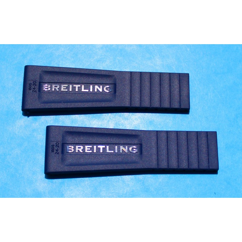 Breitling New 2013 Issue Black Watch Rubber Diver Pro III 3 Aerospace, Chronoliner Hershey Strap 24/20mm OEM