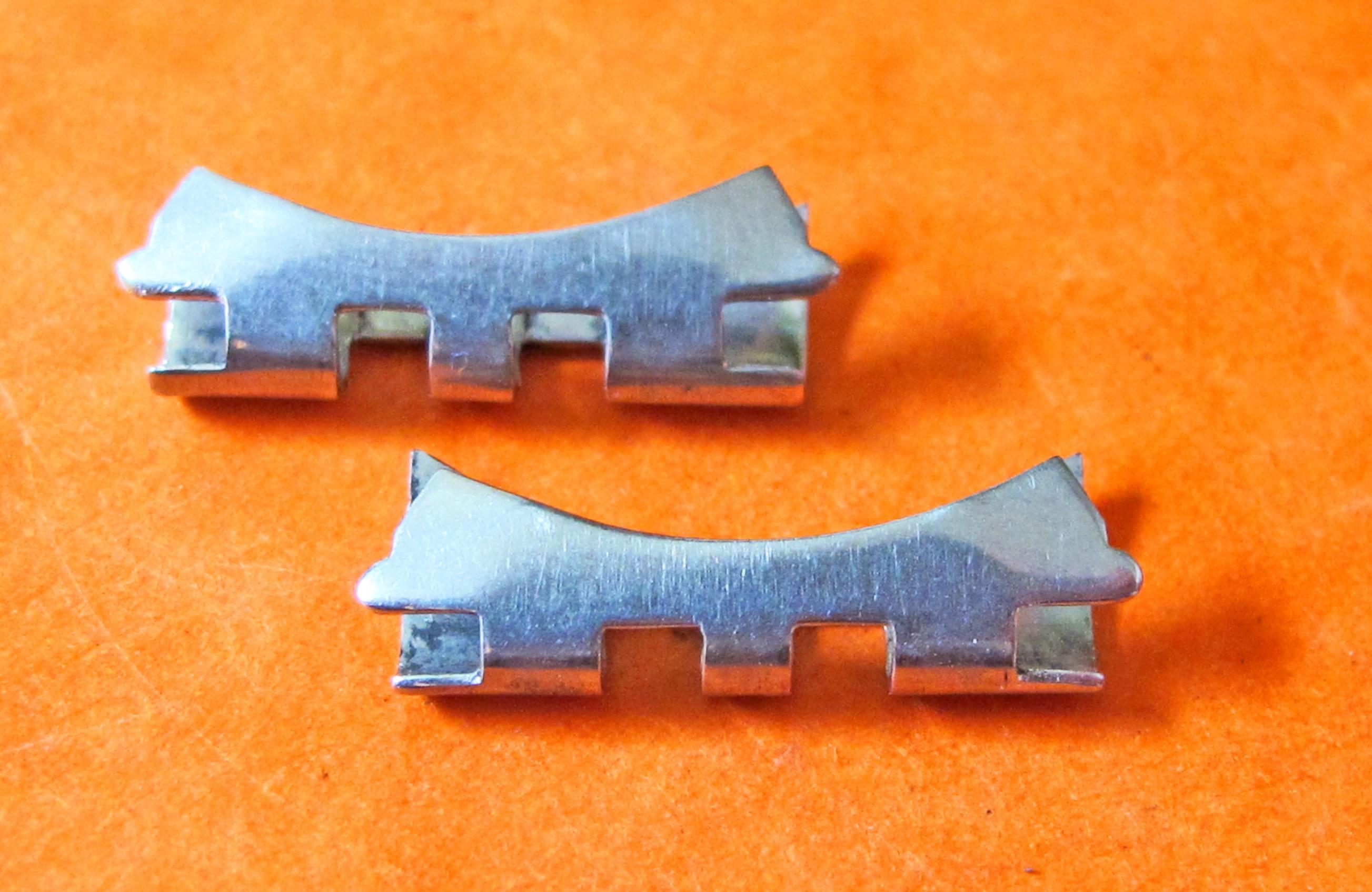 14K ROLEX ENDLINKS ENDPIECE OVAL BRACELET JUBILEE 20mm SSTEEL / GOLD 20mm