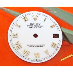 ROLEX DATEJUST PORCELAIN WHITE DIAL WITH GOLD ROMAN NUMERALS