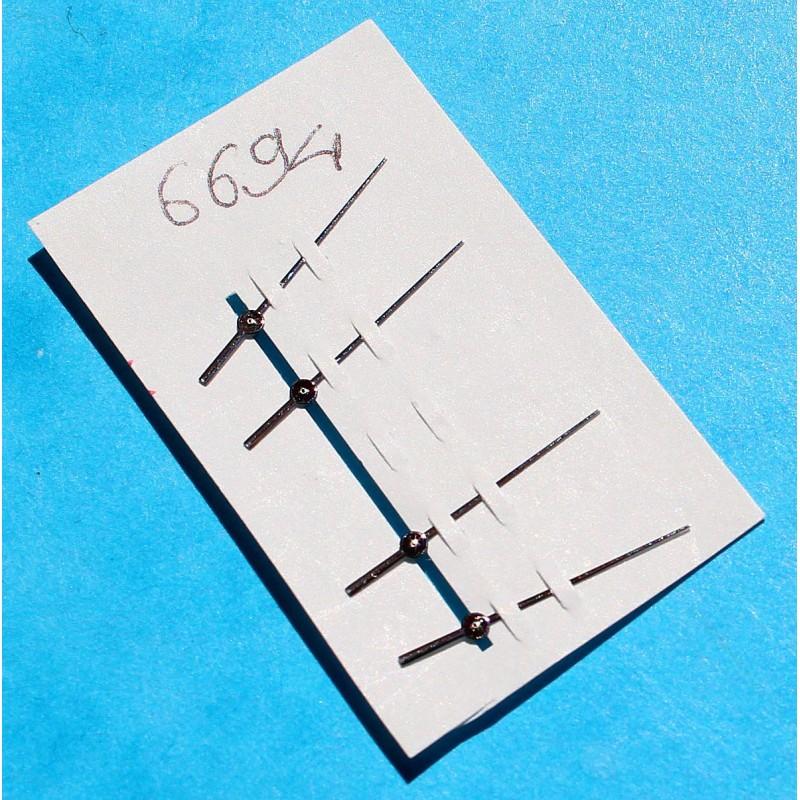 ROLEX 1 x AIGUILLE SECONDE, TROTTEUSE TRITIUM OR BLANC MONTRES OYSTER PRECISION 6694 CAL 1210