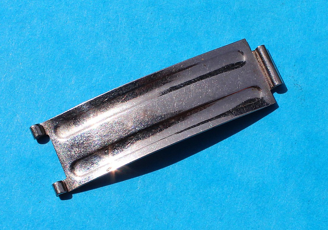 1 x VINTAGE 1979 BLADE C&I ROLEX FOLDED CLASP BUCKLE RIVETS DAYTONA 6263, 6240, 6265 AIR KING PRECISION OYSTER BRACELETS 19mm